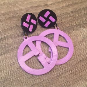 Jewelry - Purple Statement Earrings New